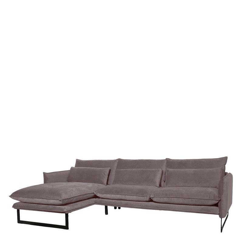 MILAN LOUNGE SOFA LEFT SEVEN GREY 65 B-280/H-88/D-160