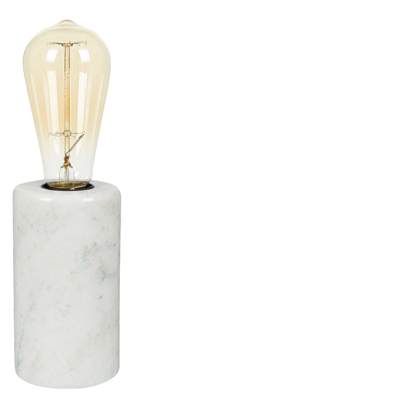 MARBLE TABLE LAMP WHITE L
