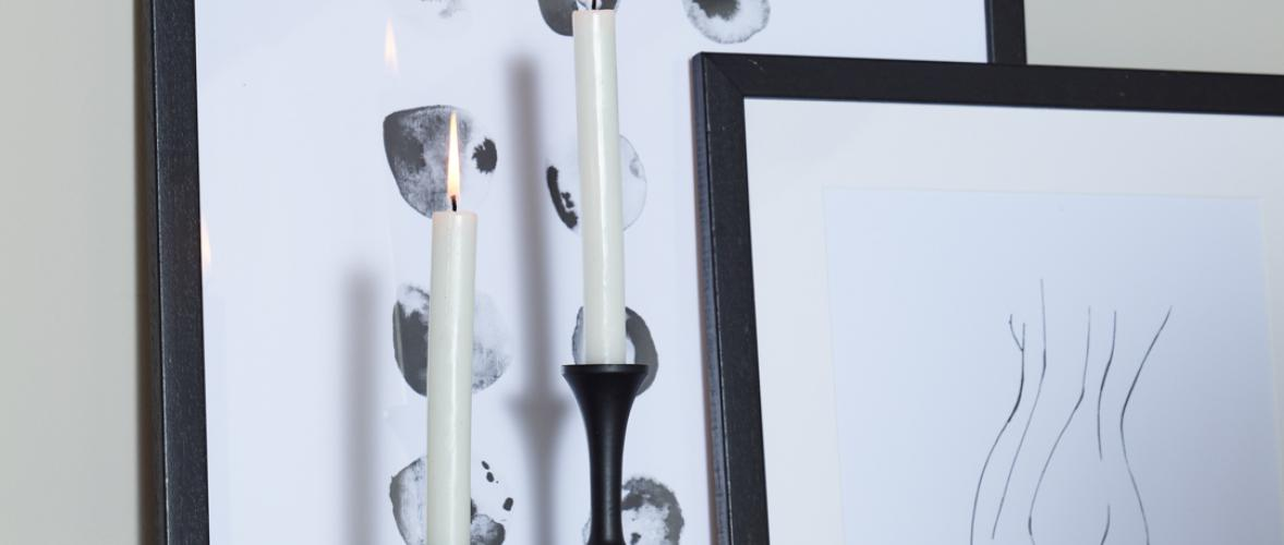 LARRY CANDLE HOLDER BLACK S