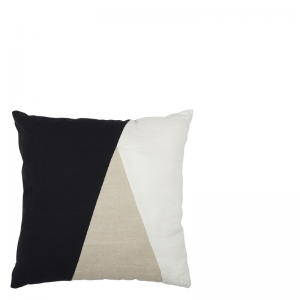 DAVI PILLOW BLACK WHITE 50X50