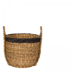 PALM BASKET NATURAL ROUND L