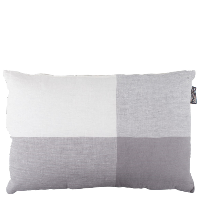 BINDI LINEN PILLOW GREY 60X40
