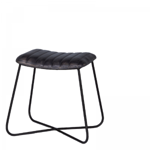 EMPIRE STOOL RECTANGULAR GREY 48X35X45