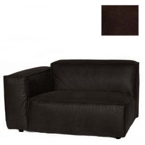 VERONA 1,5 SEAT ARM LEFT SEVEN DARK BROWN