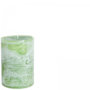 LUDO CANDLE Ø10X15 GRASSHOPPERGREEN