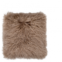 TIBETAN LAMB FUR PILLOW BEIGE 40X40