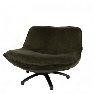 FORLI FAUTEUIL SEVEN BLACK LEG HUNTER GREEN 156 B-94/H-68/D-85