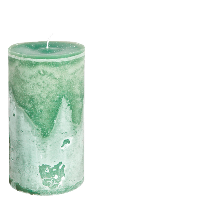 MICHEL CANDLE Ø10X20 EMERALDGREEN