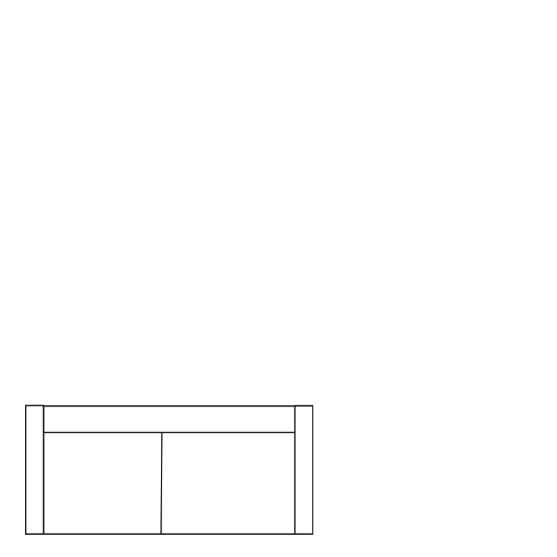 GENUA SOFA COLORADO BROWN 4 B-230/H-60/D-90
