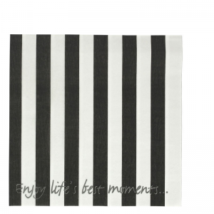 LS94 NAPKIN STRIPES BLACK & WHITE