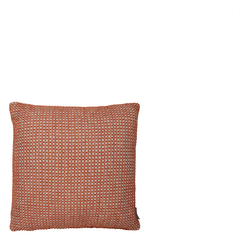 WAFFLE PILLOW RED 50X50