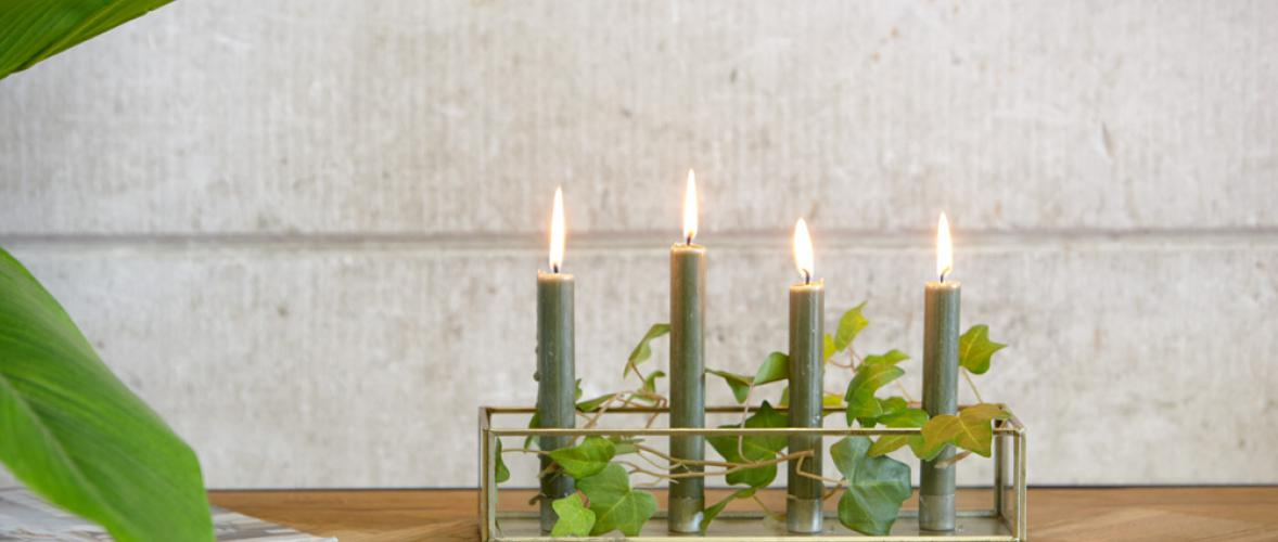 LAVE CANDLE HOLDER RECTANGULAR
