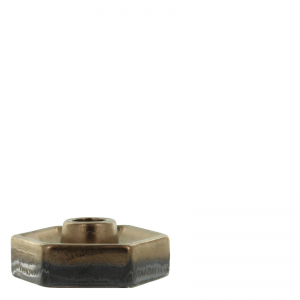 GINO FLAT CANDLE HOLDER BROWN