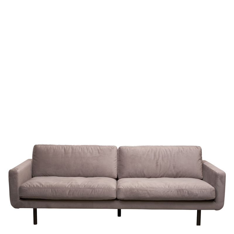 genua sofa velvet grey lifestyle home collection. Black Bedroom Furniture Sets. Home Design Ideas
