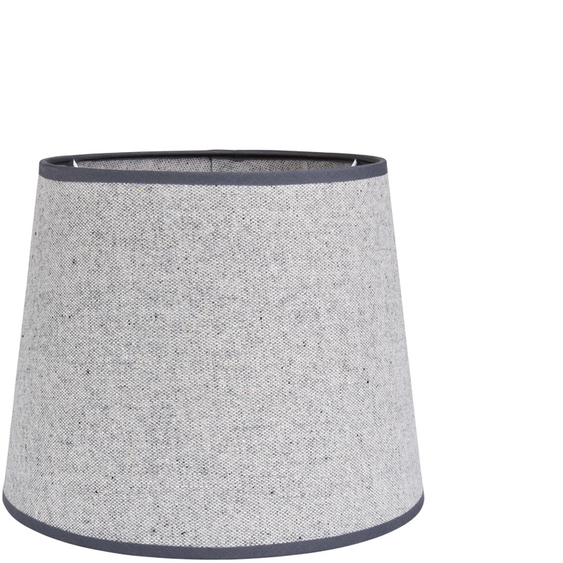 OXFORD COTTON SHADE ROUND LIGHT GREY L
