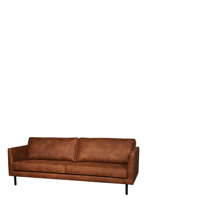 Perugia 3 seat colorado cognac lifestyle home collection - Lifestyle home collection ...