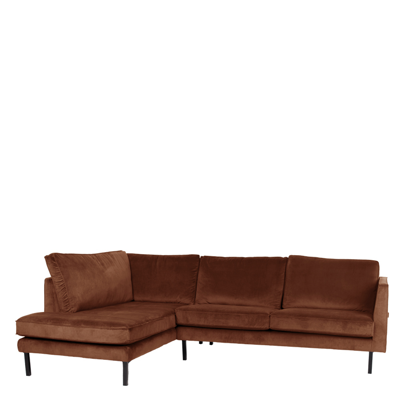 PERUGIA LOUNGE SOFA LEFT SEVEN CINNAMON